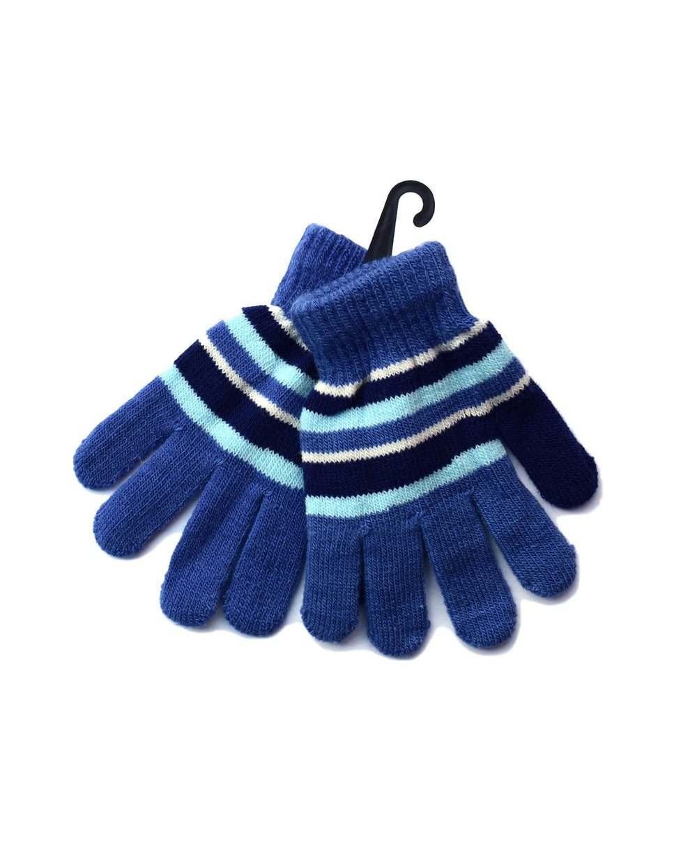 Kids Knitted Striped Gloves