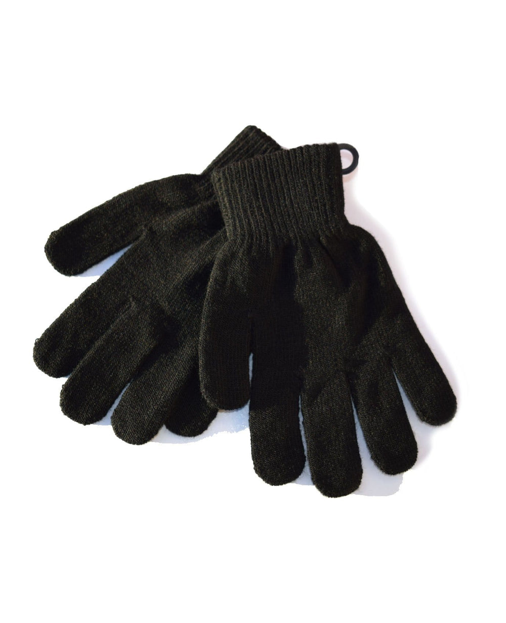 Black Winter Woven Gloves - Adult