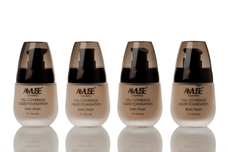 Amuse Satin Full Coverage Liquid Foundation - A - 4 Shades, COSMETIC,  JB & EVES,  JB & EVES