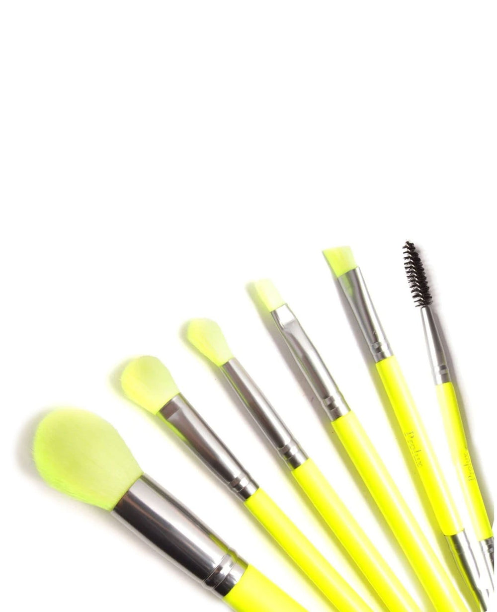 Prolux Deluxe Brush Set- Yellow Neon