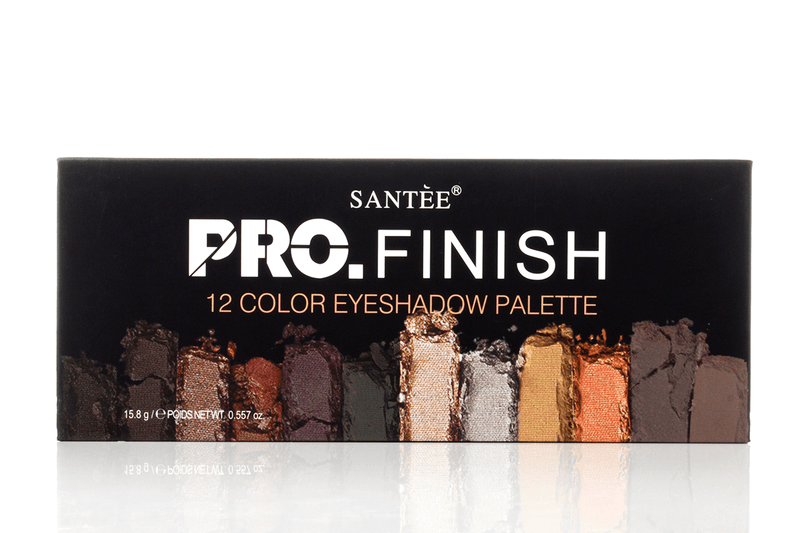 Santee Pro Finish 12 Color Eyeshadow Palette - Smoky