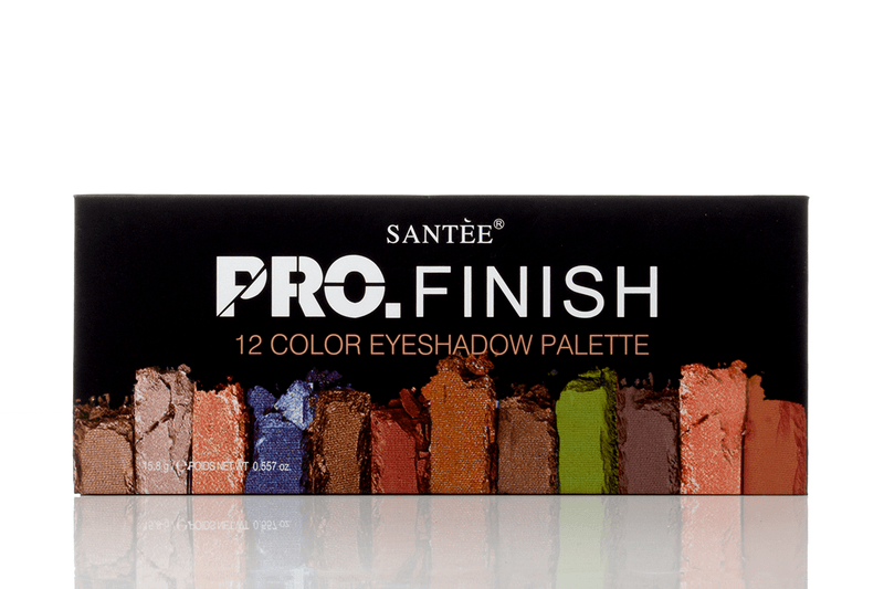 Santee Pro Finish 12 Color Eyeshadow Palette - Golden
