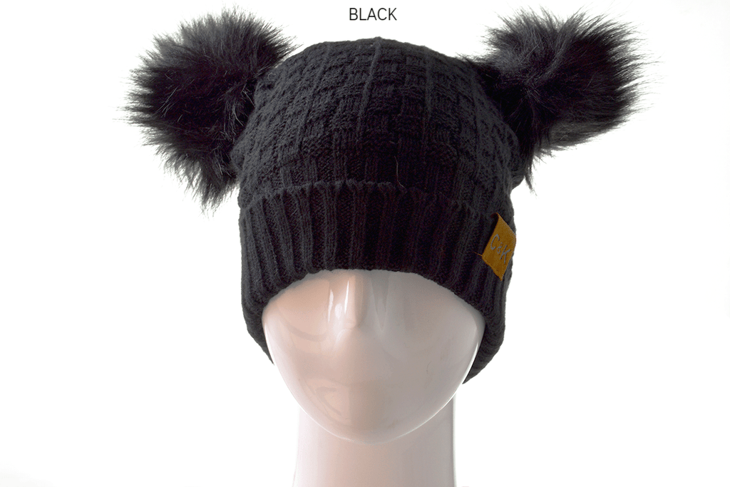 Knitted Pom Pom Beanie, WINTER
