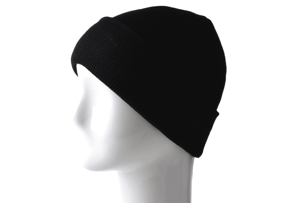 Solid Knitted Black Beanie