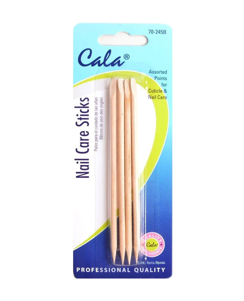Cala Double Tipped Cuticle Nail Care Sticks (4pk), BEAUTY TOOLS