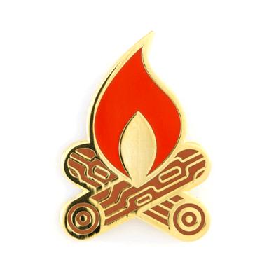 These Are Things - Travel Enamel Pins - Campfire Pin