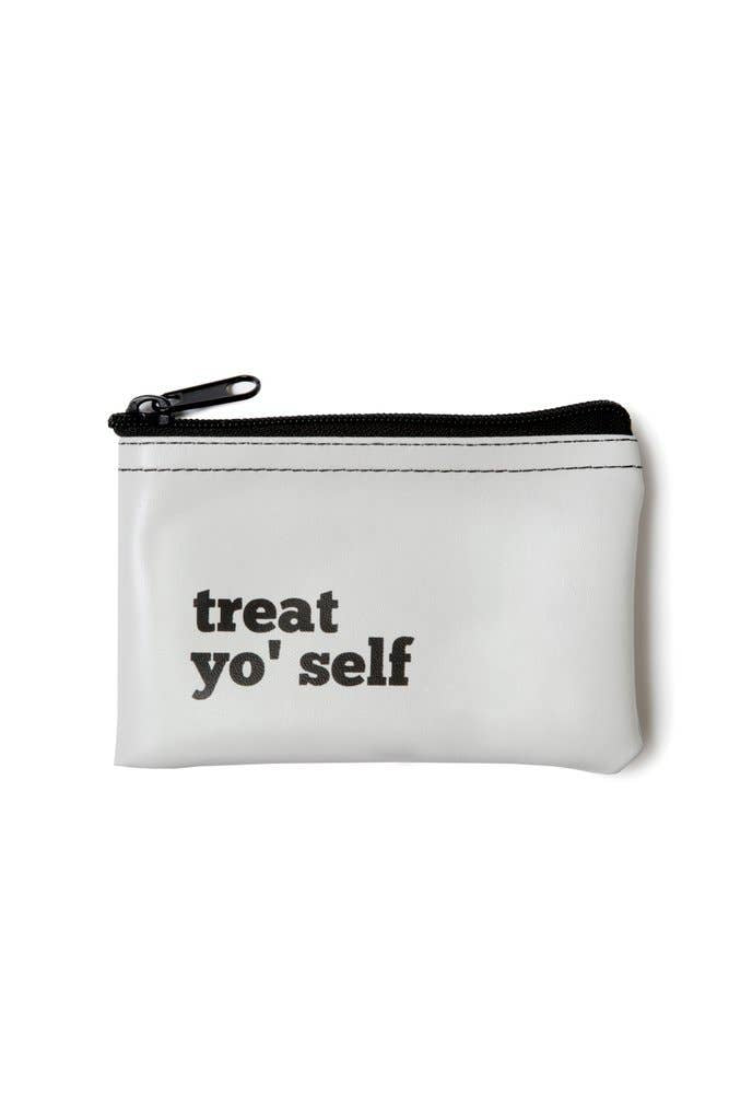 He said, She said - Treat Yo' Self Vinyl Zip Pouch - Organ Mountain Outfitters