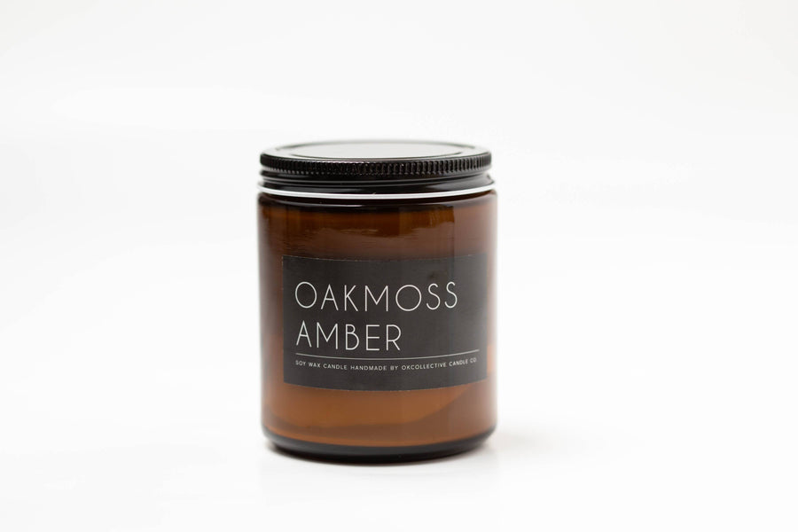 OKcollective Candle Co. - Candle // Oakmoss Amber 8oz - Organ Mountain Outfitters