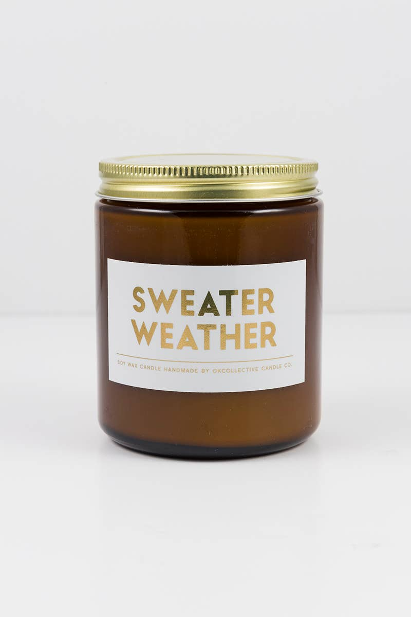 OKcollective Candle Co. - Holiday Candle // Sweater Weather 8oz - Organ Mountain Outfitters