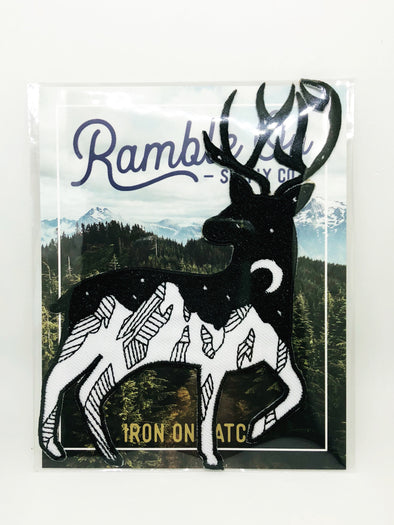 Ramble On Supply Co - Night Sky Deer Iron On Patch