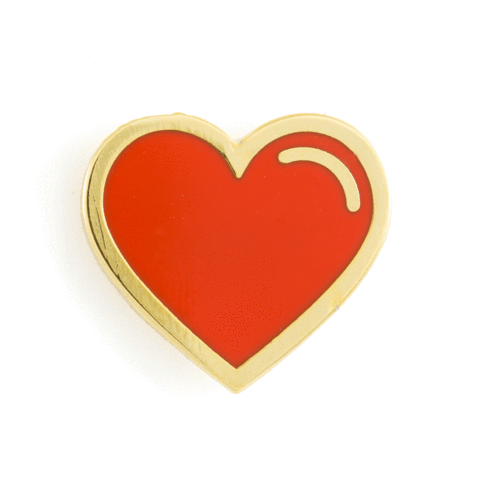 These Are Things - Heart Enamel Pins - Red Heart Pin