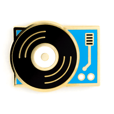 These Are Things - Gadgets & Electronics Enamel Pins - Record Player Pin