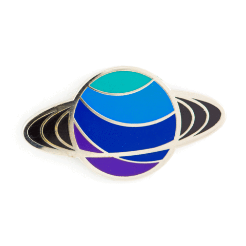 These Are Things - Enamel Pins - Saturn Pin