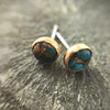 Mineral and Matter - Turquoise and Copper Stud Earrings