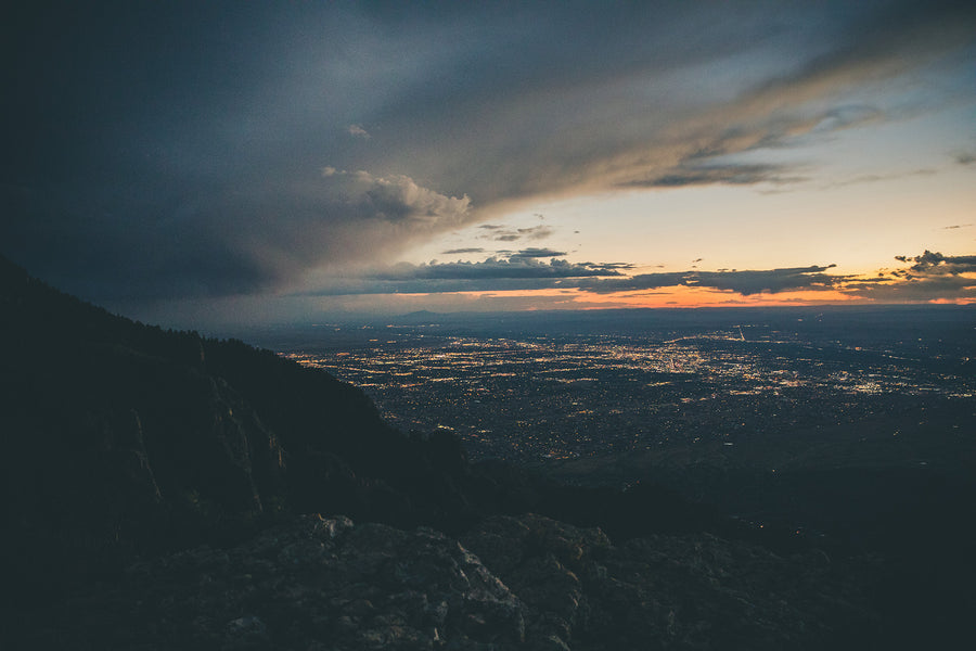Photography: Albuquerque Nightfall - Organ Mountain Outfitters