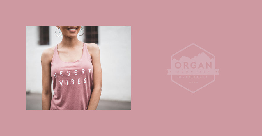 Desert Vibes Racerback Tank - Organ Mountain Outfitters