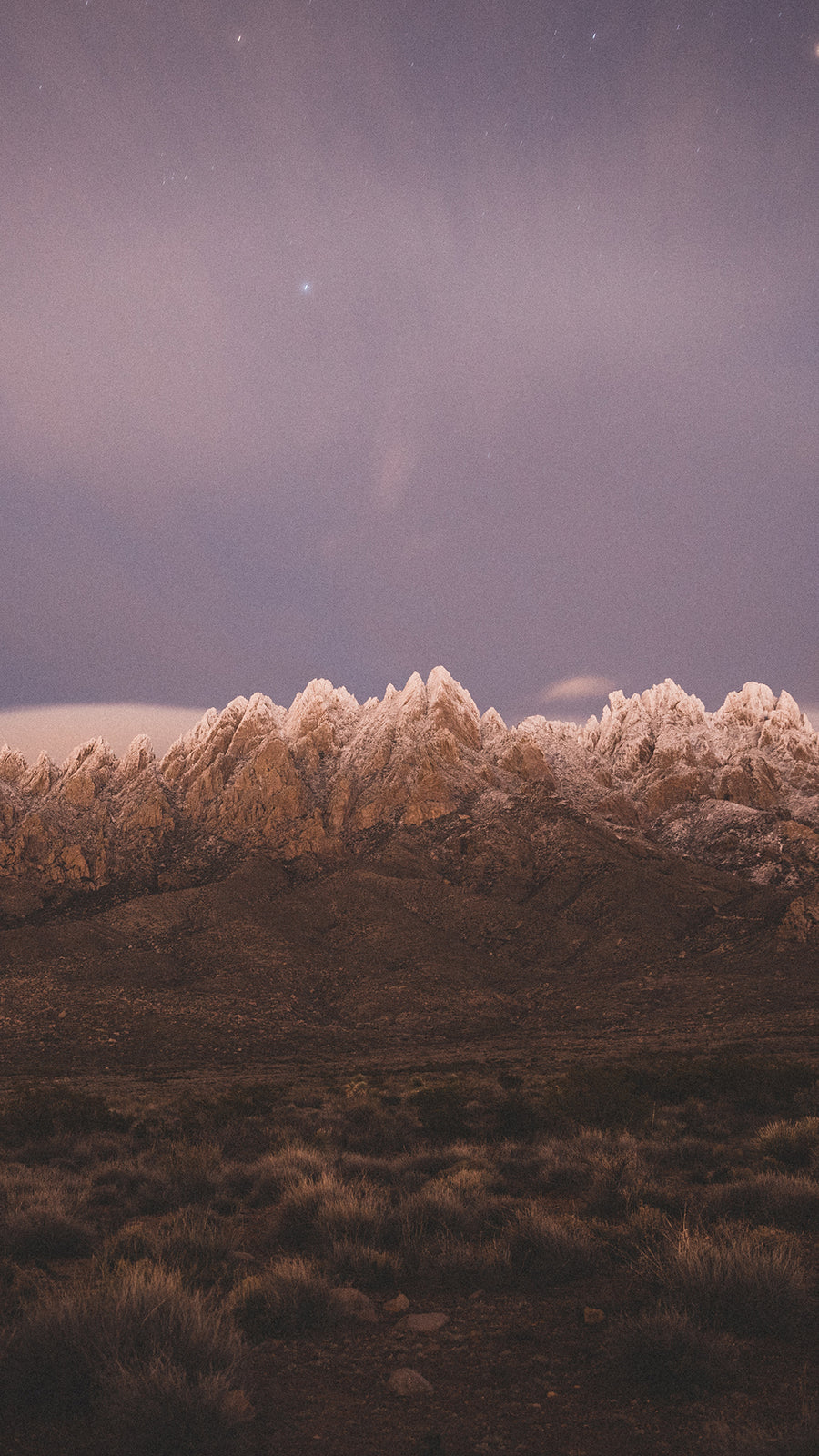 Snowy Peaks of the Organ Mountains Phone Wallpapers - Organ Mountain Outfitters
