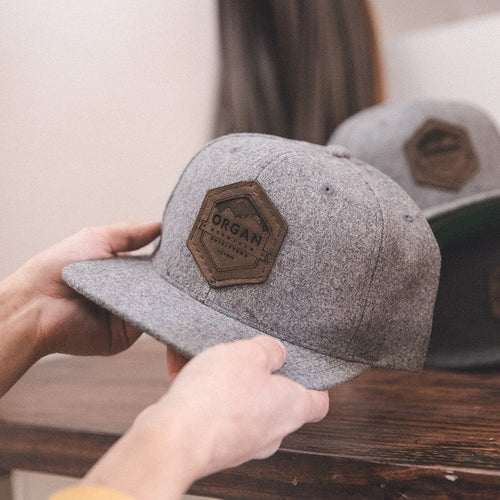 Organ Mountain Wool Snapback - Leather Patch