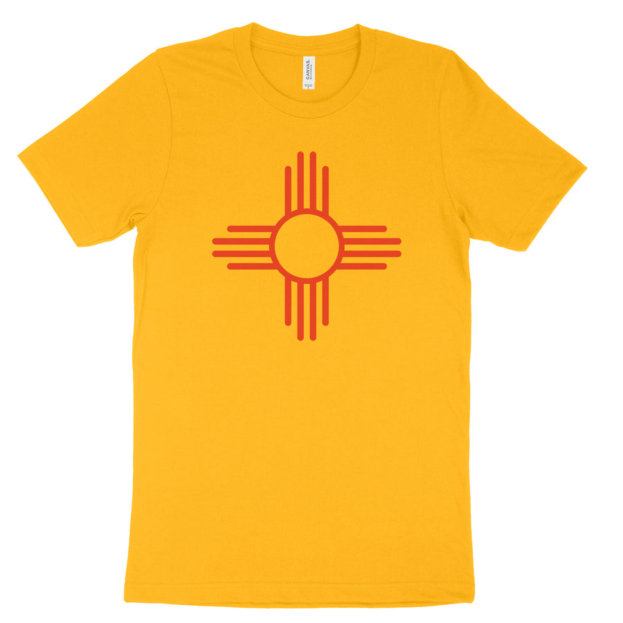 Zia Sun Symbol 100% Cotton Tee - Organ Mountain Outfitters