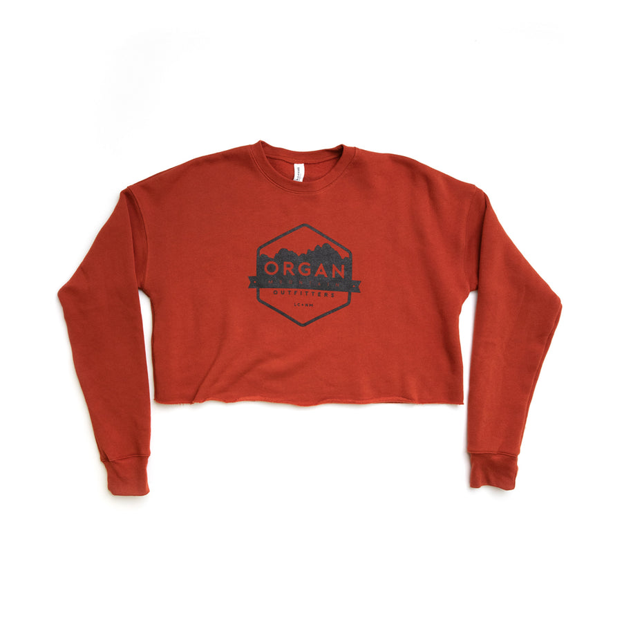 Women's Organ Mountain Cropped Crew Fleece - Organ Mountain Outfitters