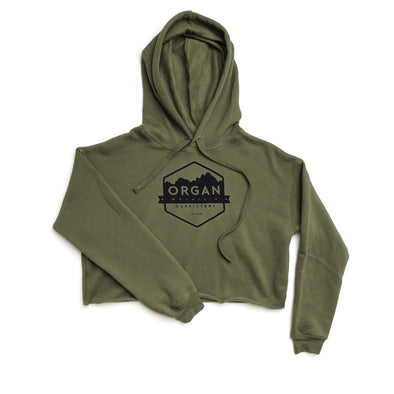 Women's Classic Cropped Fleece Hoodie - Organ Mountain Outfitters