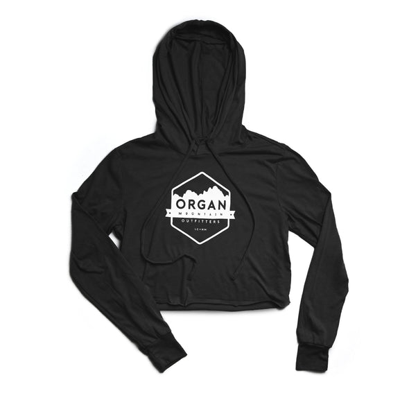 Women's Classic Cropped Tri-Blend Hoodie - Organ Mountain Outfitters
