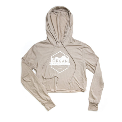 Women's Classic Cropped Tri-Blend Hoodie