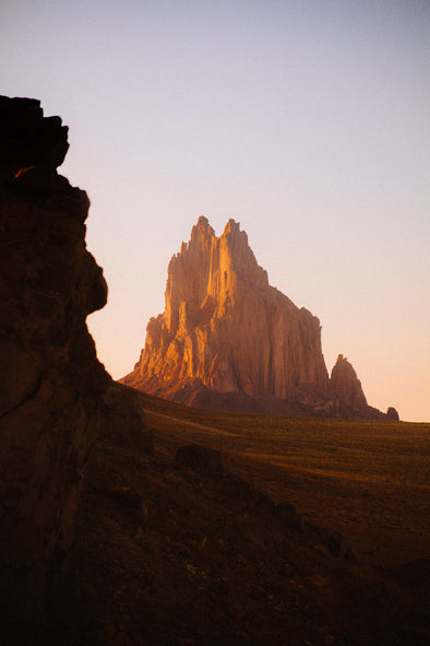 Photography: Shiprock at Sunset