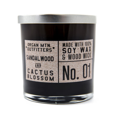 Wood Wick Candle No.1  - Sandalwood and Cactus Blossom - 8 oz.