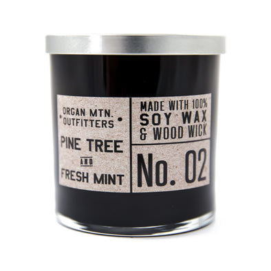 Wood Wick Candle No.2 - Pine Tree and Fresh Mint - 8 oz.