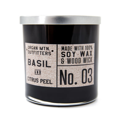Wood Wick Candle No.3 - Basil and Citrus Peel - 8 oz.