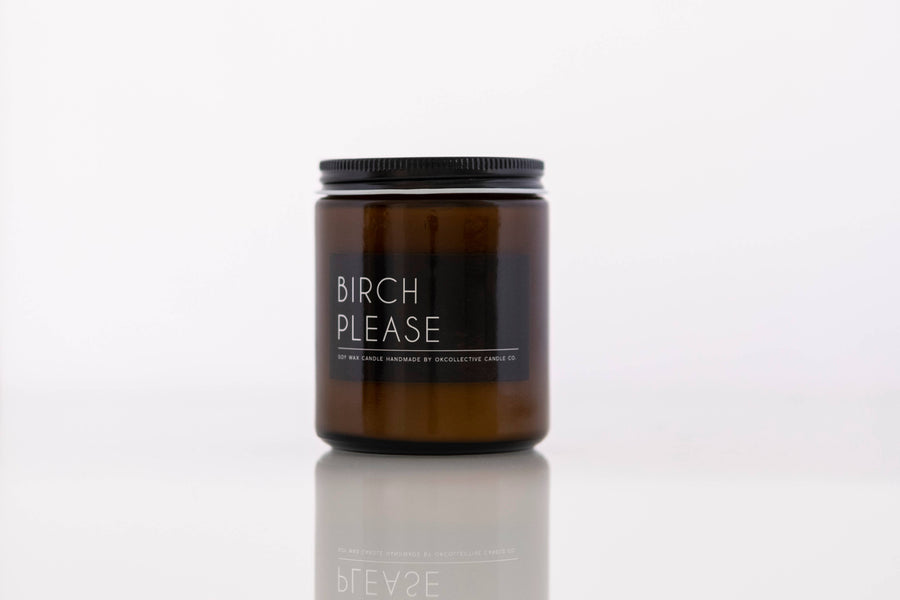OKcollective Candle Co. - Candle // Birch Please 8oz - Organ Mountain Outfitters