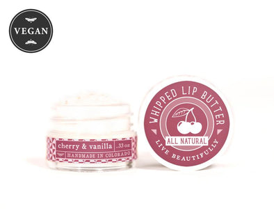 Live Beautifully - Cherry & Vanilla - Whipped Lip Butter