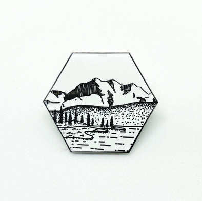 Ramble On Supply Co - Enamel Pin - Mountain Nature Landscape