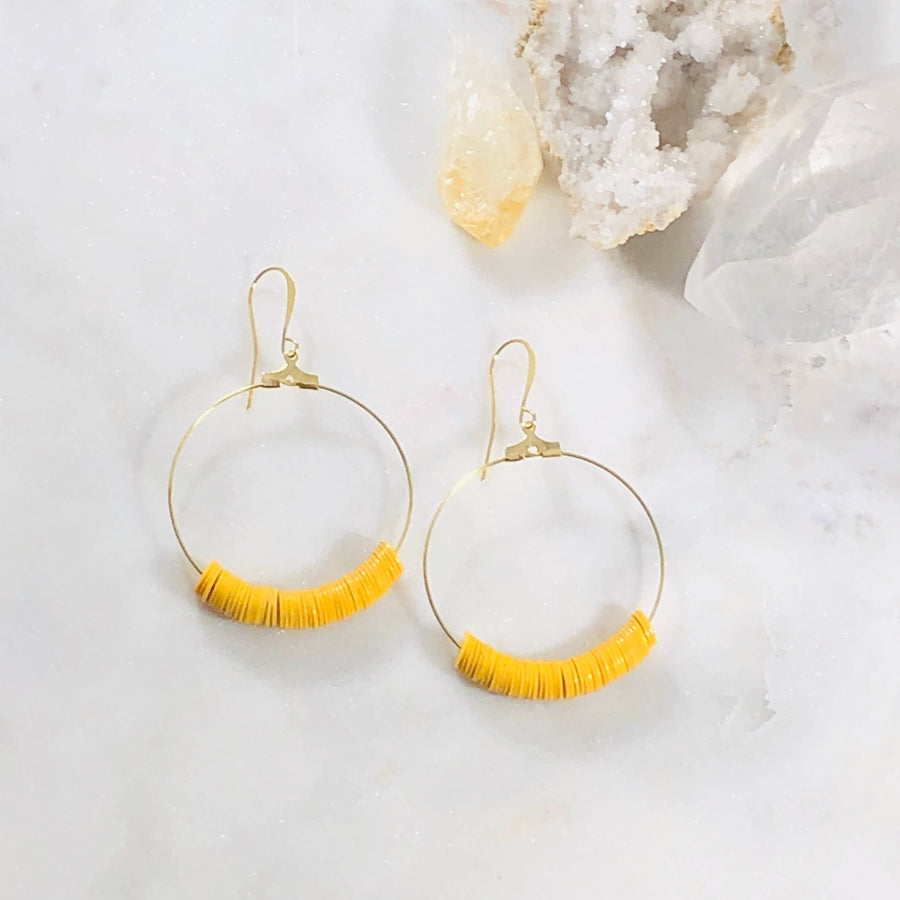Sarah Belle - Dottie Mustard Hoops - Organ Mountain Outfitters