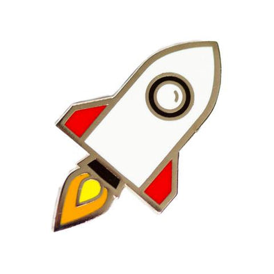 These Are Things - Enamel Pins - Rocketship Pin