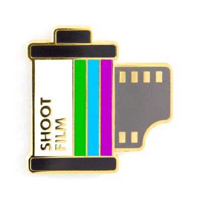 These Are Things - Gadgets & Electronics Enamel Pins - Shoot Film Pin