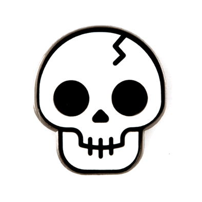 These Are Things - Enamel Pins - Skull Pin