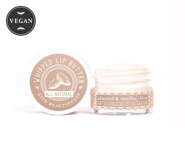 Live Beautifully - Almond & Vanilla - Whipped Lip Butter