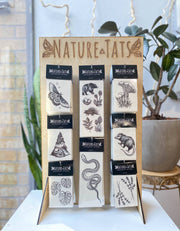 NatureTats - Temporary Tattoo Display Stand - Organ Mountain Outfitters