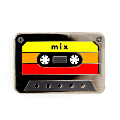 These Are Things - Gadgets & Electronics Enamel Pins - Mix Tape Pin