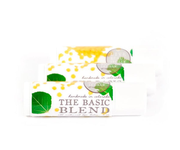 Live Beautifully - The Basic Blend Mini Lip Balm Tube