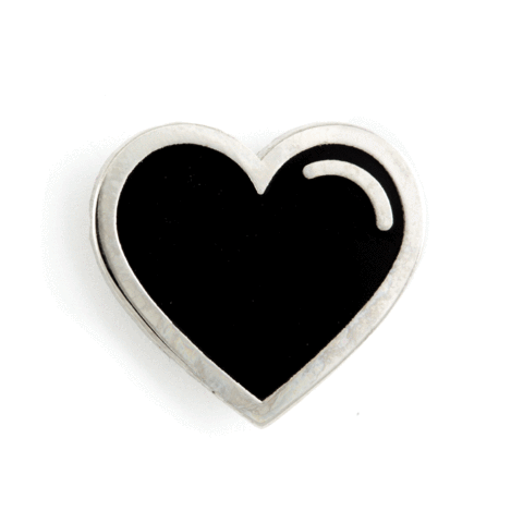 These Are Things - Heart Enamel Pins - Black Heart Pin
