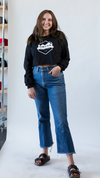 Women's Classic Cropped Long Sleeve Tee