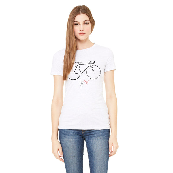 LivFre Bicycle Crew-neck tee - Stone Banana