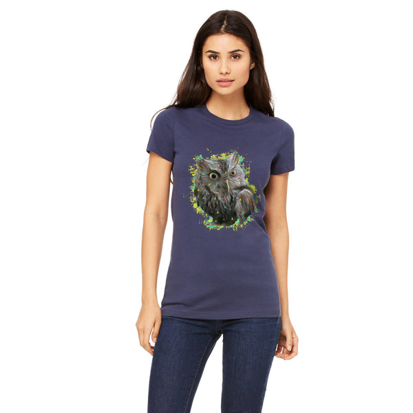 Screech the Owl Crew-neck tee - Stone Banana