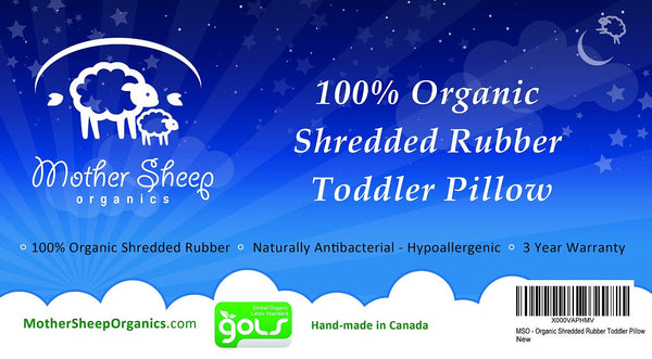 Toddler Pillow – 100% Organic Rubber