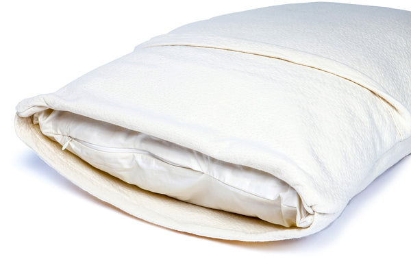 Organic Rubber Pillow, All Natural & 100% Certified, Machine Washable