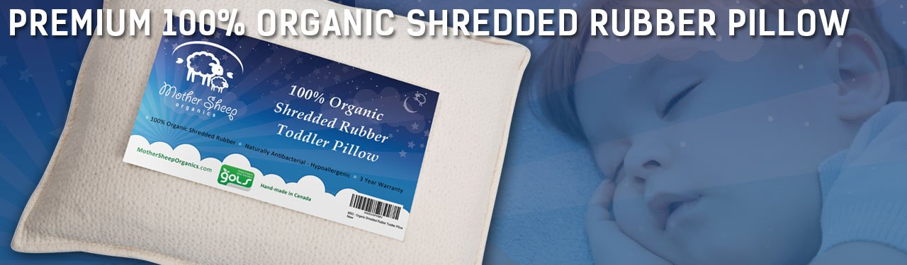Premium 100% Organic Shredded Rubber Toddler Pillow
