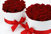 RED DOZEN ROSES IN A GIFT HAT BOX